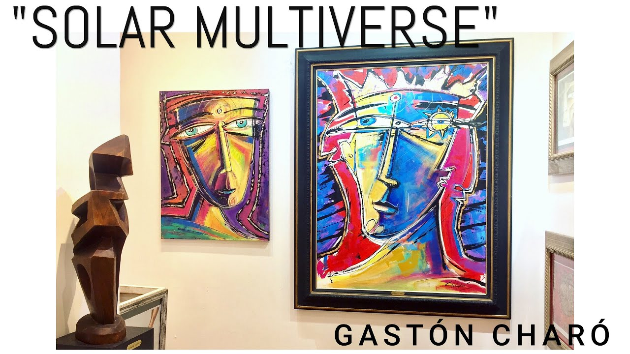 """Details of """"Solar Multiverse"""" - Brand new painting - Gastón Charó - Cubism / Expressionism"""