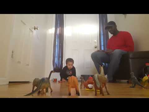 Creative Toddler Game : Bowling With Cars + Learning Animal Names
