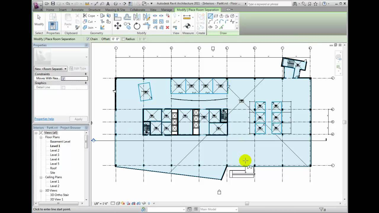 Drawing Lines In Revit : Revit architecture tutorial creating room