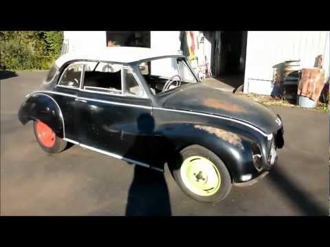 1960 DKW 3=6 Auto Union roars to life