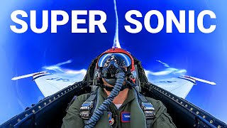 Download GOING SUPERSONIC with U.S. Air Force Thunderbirds! Pulling 7 G's in an F-16 -Smarter Every Day 235