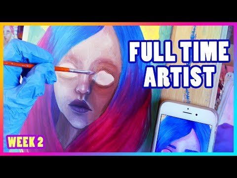 FULL TIME ARTIST Vlog || EP 2 || Watercolor, Oil, and Acrylic Paintings