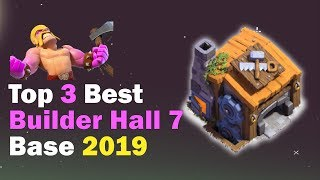 TOP 3 Best Builder Hall 7 (BH7) Base 2019 | Anti 2 Star | Base Clash of Clans