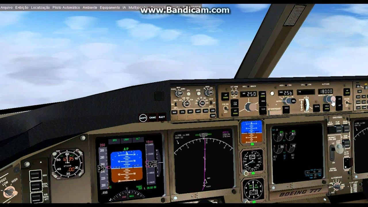 Flightgear 3 2 (HD) / Full Flight EGKK-EHAM 772ER