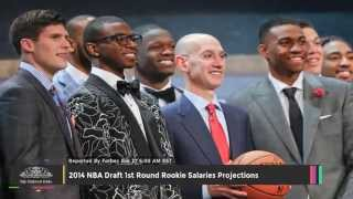 2014 nba draft 1st round rookie salaries projections - toi