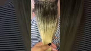 Наращивание волос омбре