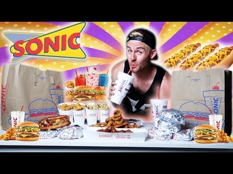 THE SUPERCHARGED SONIC MENU CHALLENGE! (9,000+ CALORIES)