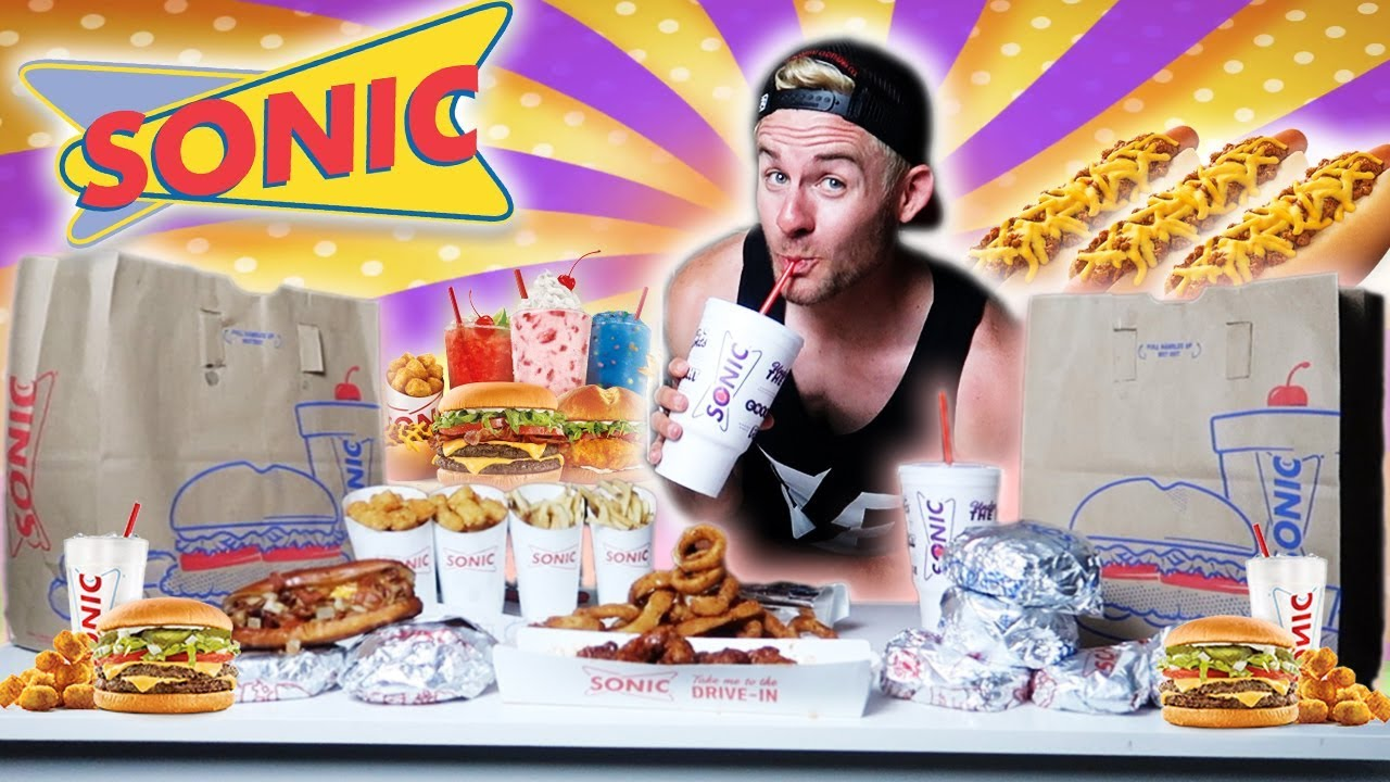The Supercharged Sonic Menu Challenge 9 000 Calories