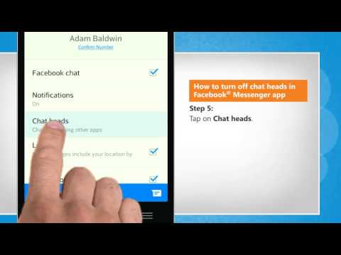 How to turn off chat heads in Facebook® Messenger app on LG