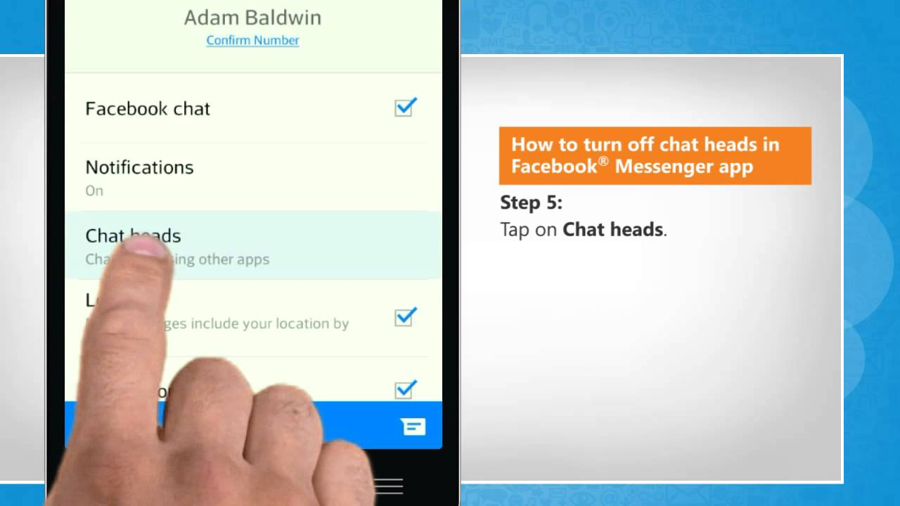 How To Turn Off Chat Heads In Facebook Messenger App On Lg L9