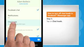 How to turn off chat heads in Facebook® Messenger app on LG L9.