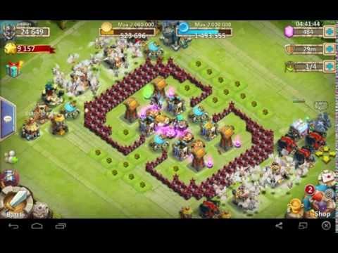 Castle Clash {Dutch Knights} Guild. Great  Base Lvl 14 HBM Base Setup Demonstrated By Angel
