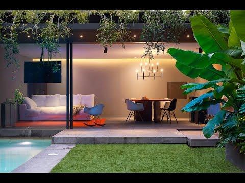 Modern Concrete House Design With Amazing Lighting Interior Design-Barrancas House