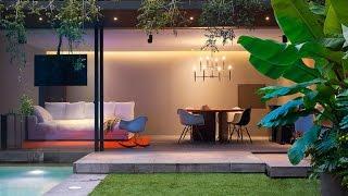 Gambar cover Modern Concrete House Design With Amazing Lighting Interior Design-Barrancas House