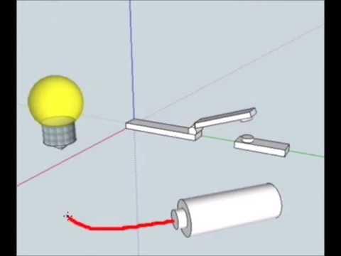 Circuito Electrico Simple Con Interruptor : Circuito basico corriente electrica e interruptor 1 youtube