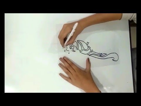 How to make stencil design Stencil Art Dilpreet Kaur - YouTube