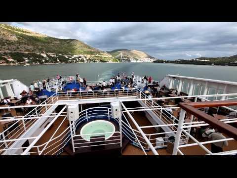 M/S Kristina Katarina Departing Dubrovnik