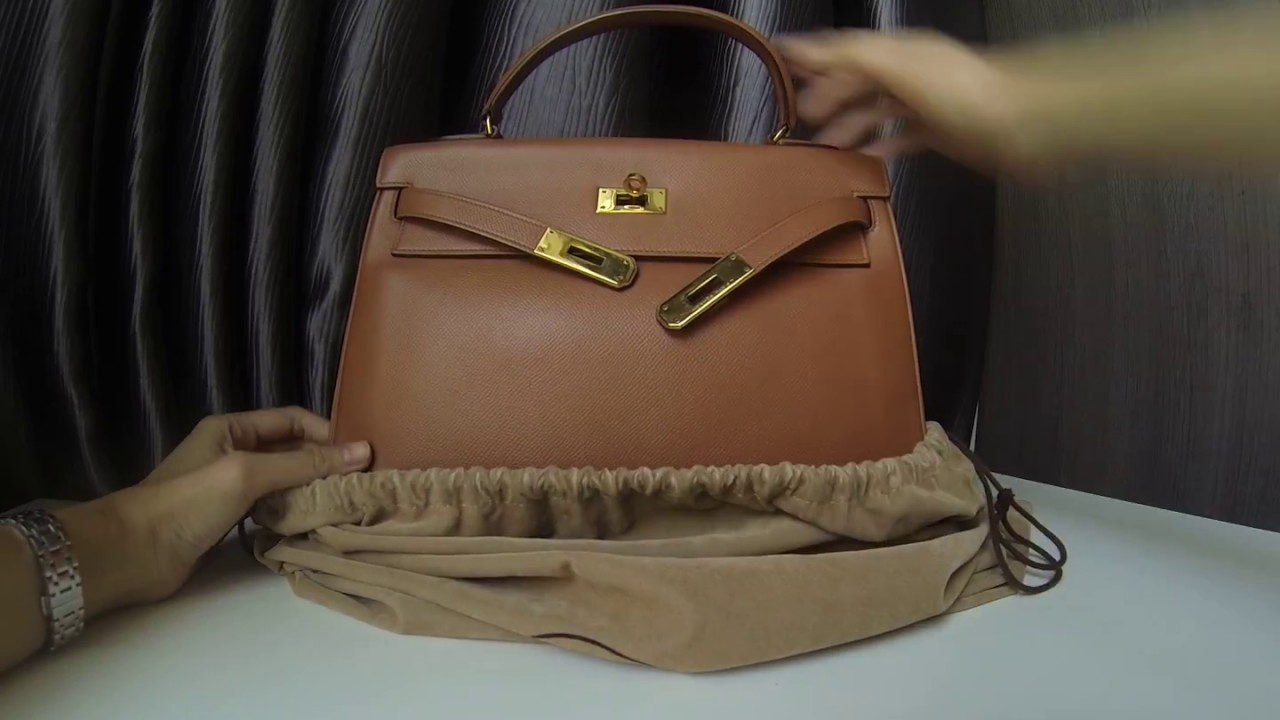 7235b695aded Hermes Kelly 32 Gold