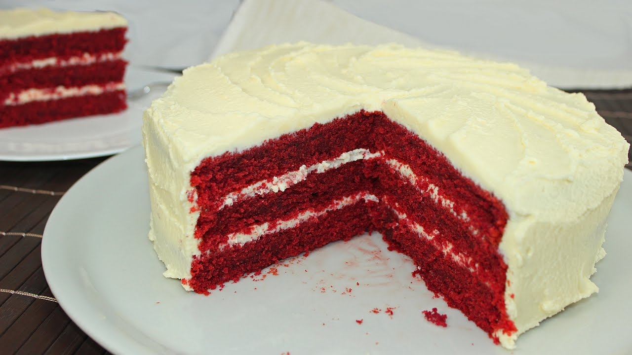 Red Velvet Cake mit Cream Cheese Frosting - YouTube