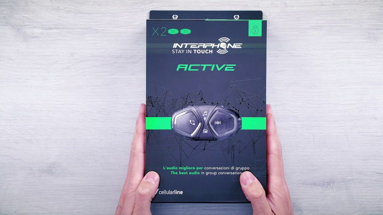Interphone Active, presentazione prodotto e contenuto pack