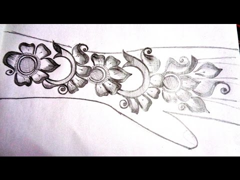 How To Pencil Draw New Mehndi Design On Paper K47 Youtube