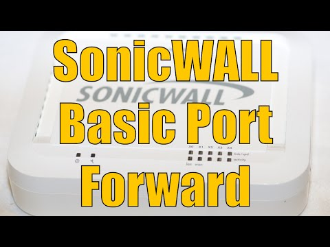 Dell SonicWALL Basic Port Forward