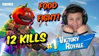 Χαμός στο FORTNITE Food Fight! Victory Royale!  Famous Games