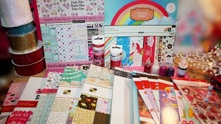Michael's Haul!!! Valentine's Day!! Scrapbook Paper Pads, Washi Tape and More!!