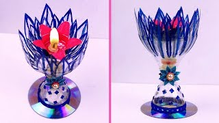 DIY Beautiful Candle Holder from Plastic Bottle - Plastic Bottle Craft Idea - Best Out of Waste