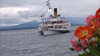Dampfschiff SIMPLON auf dem Genfersee