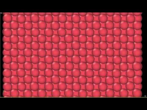Thermal motion of Ni atoms at 300K, simulated on nanoHUB