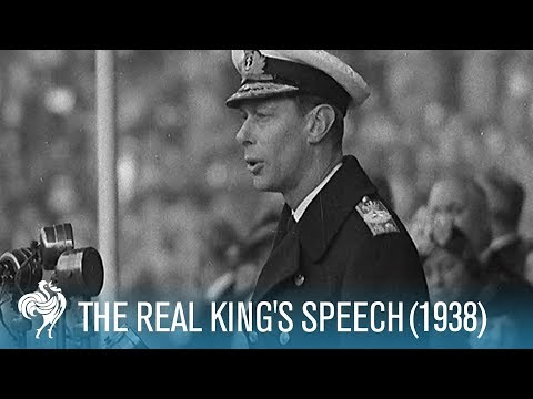 The Real King's Speech: King George VI's Stutter (1938) | British Pathé