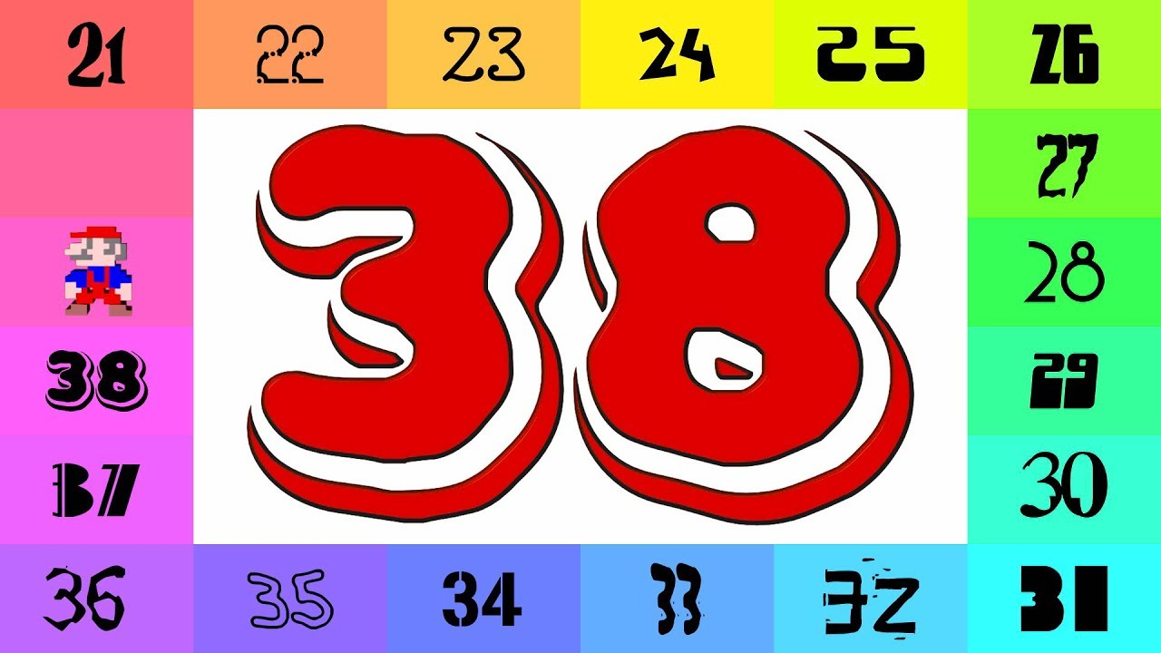 Numbers 1-500 in Colorful Fonts! (1000 / 2) - YouTube
