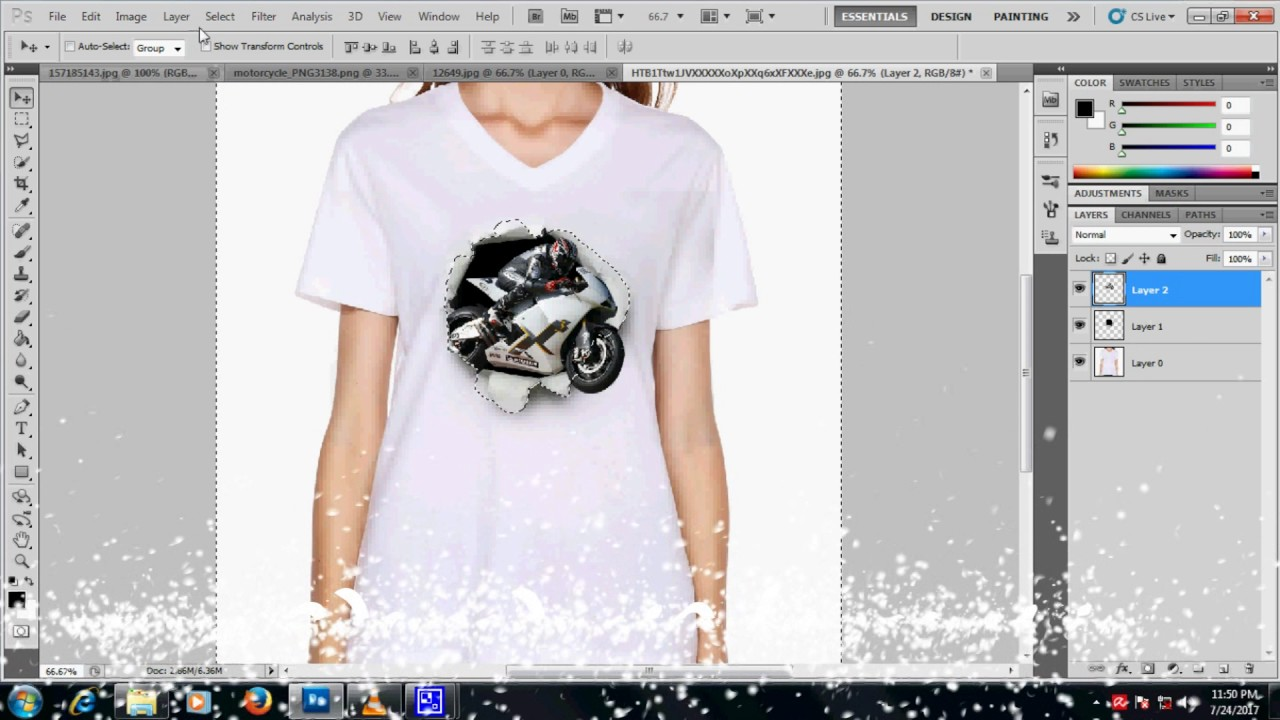 How To Create A 3d T Shirt Design Youtube