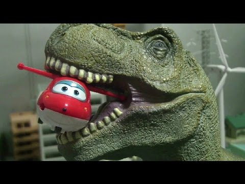 Thumbnail: Super Wings vs Dinosaur Toys 슈퍼윙스 장난감 공룡놀이