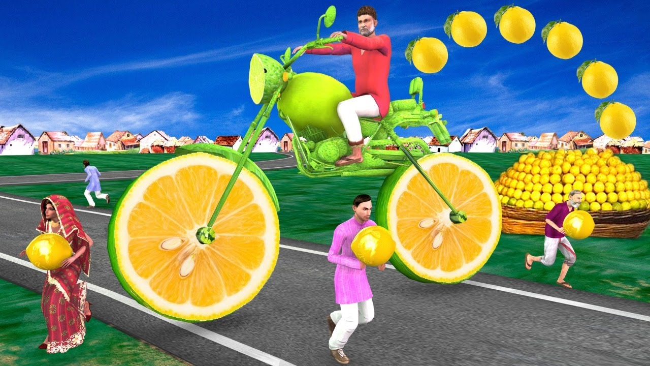 विशालकाय जादुई नींबू बाइक Giant Magical Lemon Bike Comedy Kahani हिंदी काहनिया Hindi Comedy Video