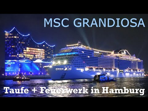 Grandiose Mega Taufe Msc Grandiosa In Hamburg Am 9112019