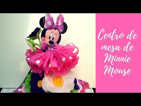 Como hacer un centro de mesa de Minnie Mouse   🌸 Casa Boutique 🌸