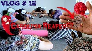 LES DARÉ A LOS COMPADRES EL CHILE MAS PICOSO DEL MUNDO *El Carolina Reaper* - #LosCompadres 12