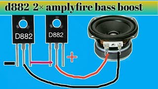D882 amplyfire  Bass boost 2× power