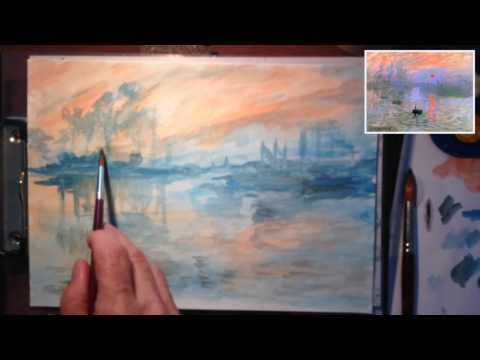 Come Copiare Monet ad acquerello