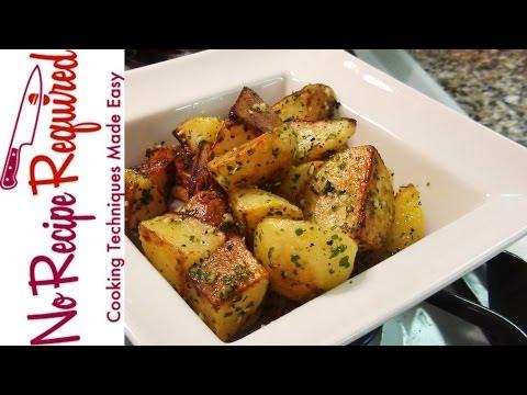 Roast Potatoes With Garlic & Parsley - NoRecipeRequired.com