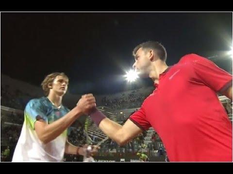 Grigor Dimitrov vs. Alexander Zverev 1-6, 4-6 Internazionali BNL d'Italia Rome (R64) 09.05.2016.