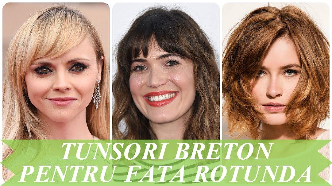 Modele De Tunsori Breton Pentru Fata Rotunda 2018 Youtube