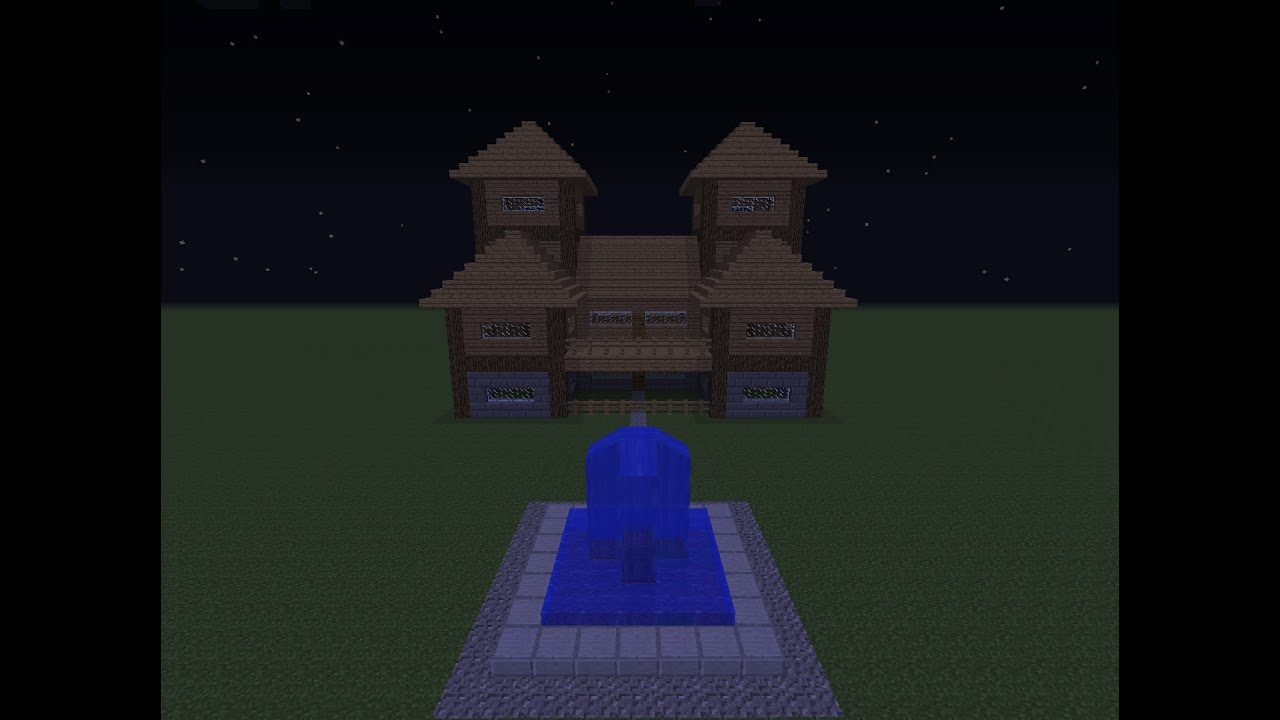 how to build a house in minecraft with wood and stone bricks youtube. Black Bedroom Furniture Sets. Home Design Ideas