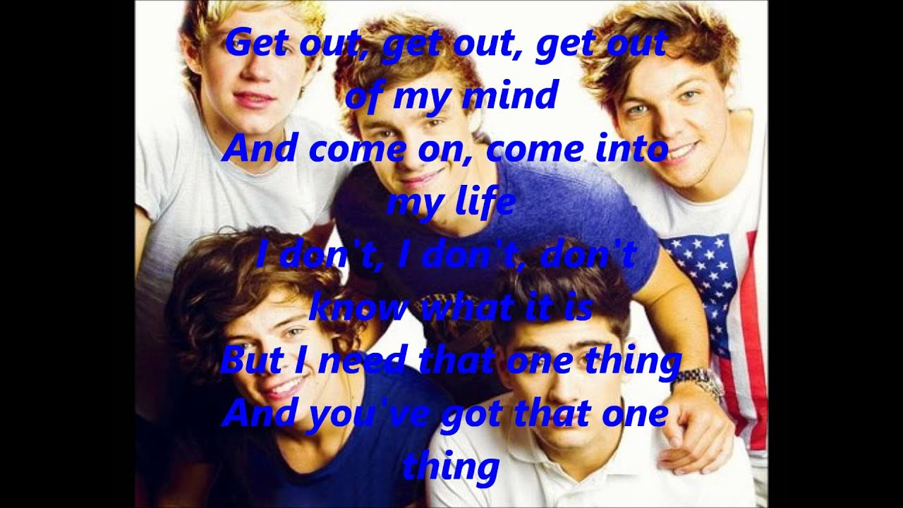 Download One Direction-One Thing [Lyrics+Pictures]