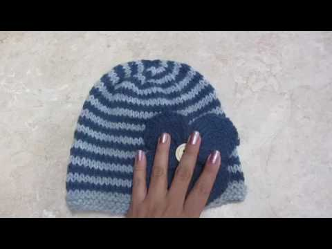 6d59d1beb4270 Como tejer un gorro en dos colores - YouTube
