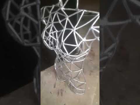 Aluminum Rod Female Torso  - Fusion Art By Steele - Weld Art / Metal Art