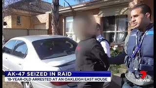 Seven News. Second AK47 Seized In African Gang Raid.(Oakleigh East)(Melbourne)
