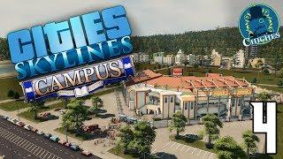 CITIES SKYLINES: CAMPUS | Estadio de Baseball #4 En Español